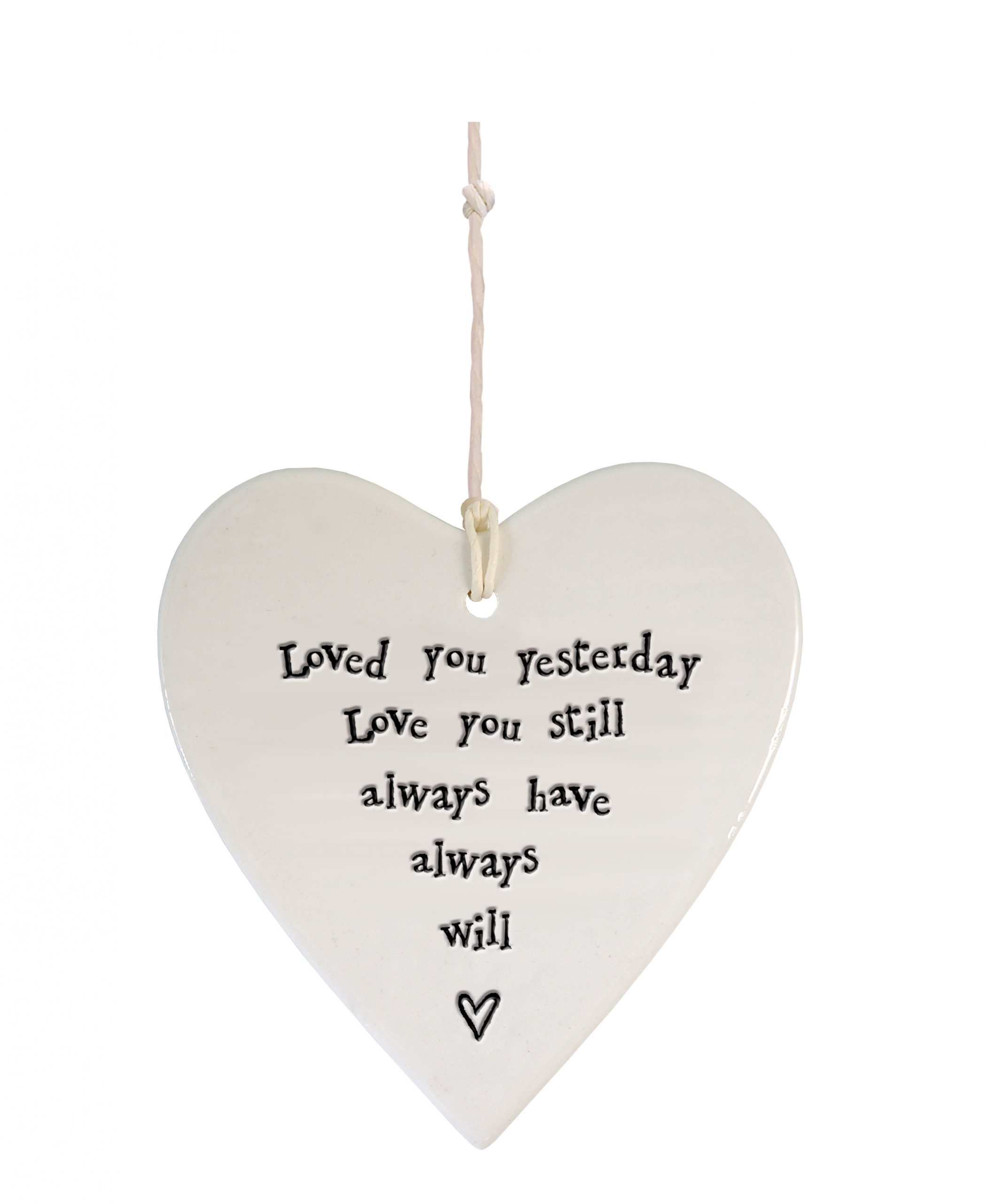 Porcelain round heart Loved you