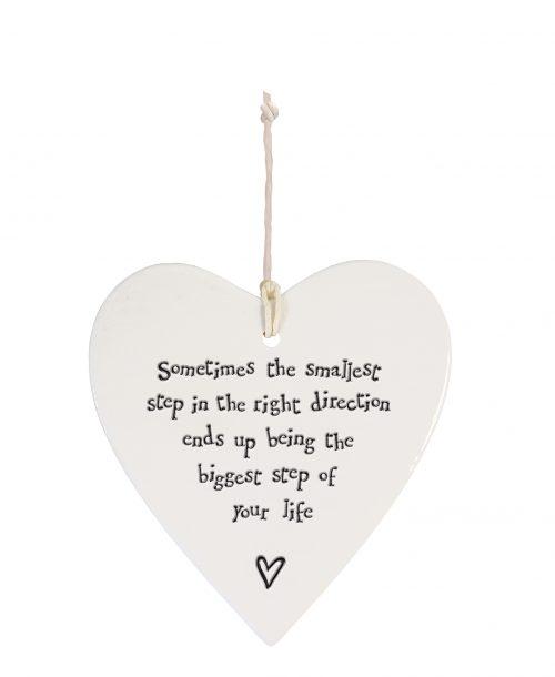 4204DH web Porcelain hanging heart Smallest Step