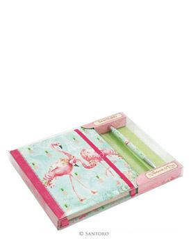 Flamingos Notebook and Pen Set