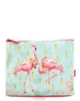 Flamingos Large Accessory Case