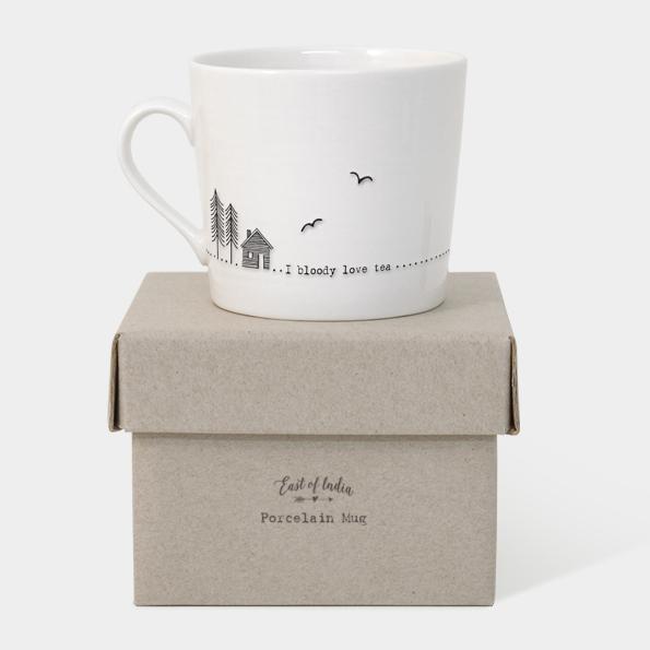East of India Boxed Mug (I Bloody Love Tea) - With Box