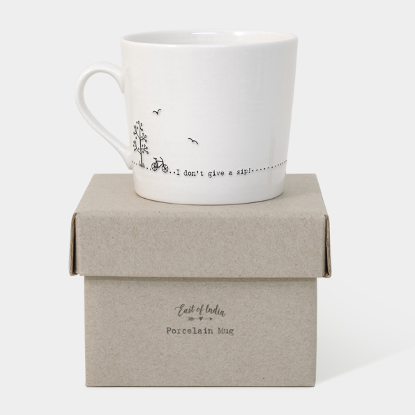 East of India Boxed Mug (I Don't Give a Sip!) - With Box