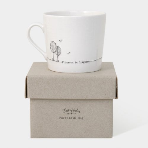 East of India Boxed Mug (Prosecco in Disguise) - With Box