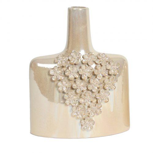 Daisy design bottle vase 25cm