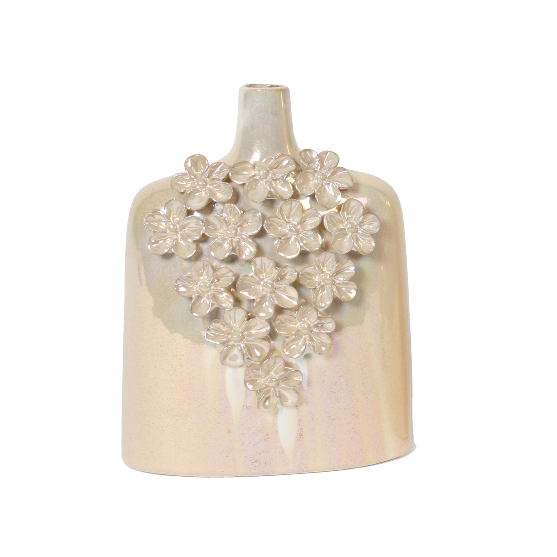Daisy design bottle vase 20cm