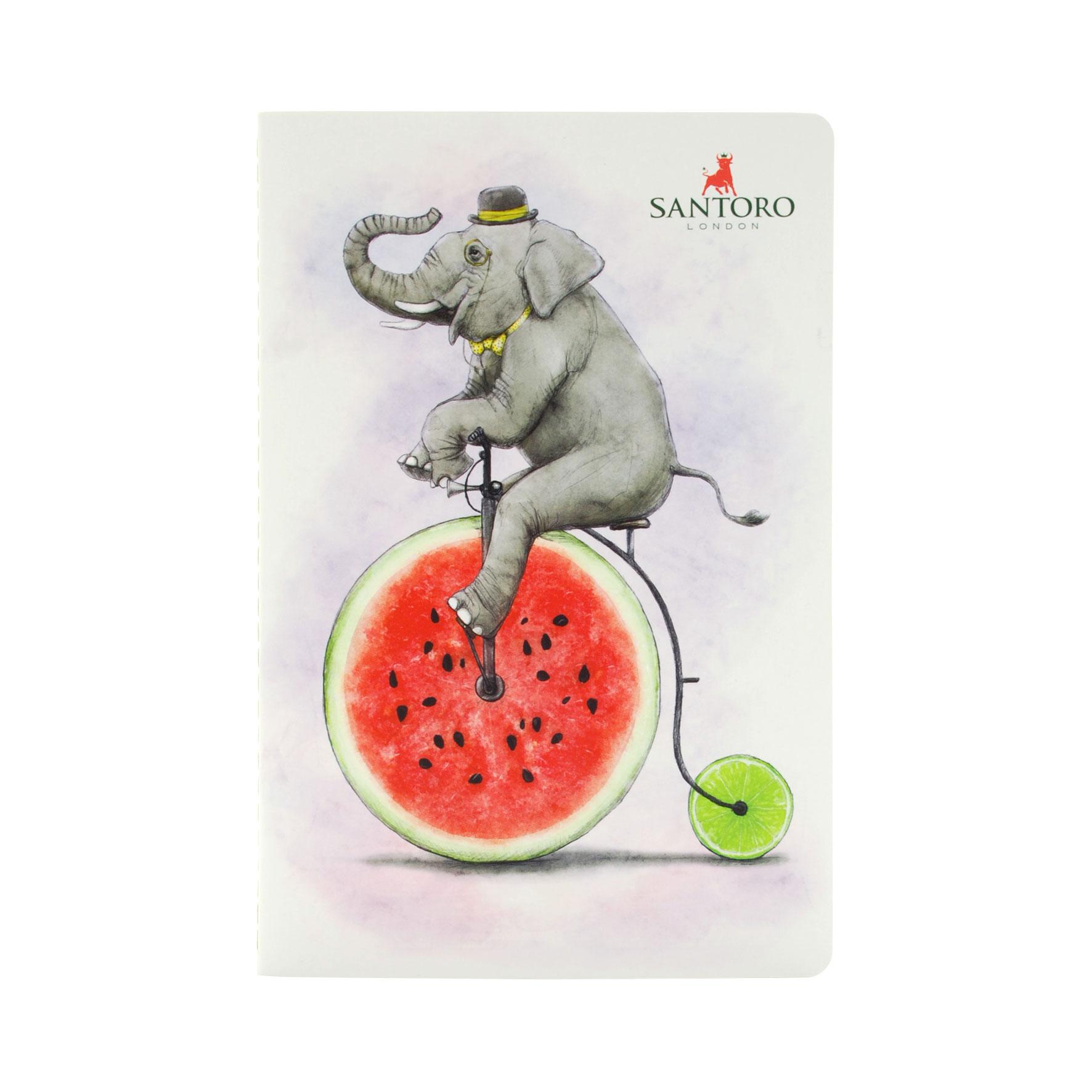 Fruity Scooty Notebook - Elephant
