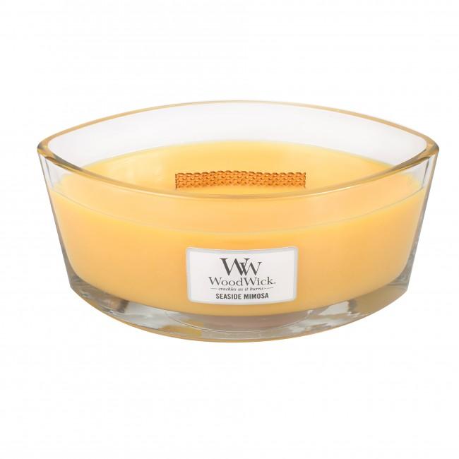 WoodWick Seaside Mimosa Hearthwick Jar Candle