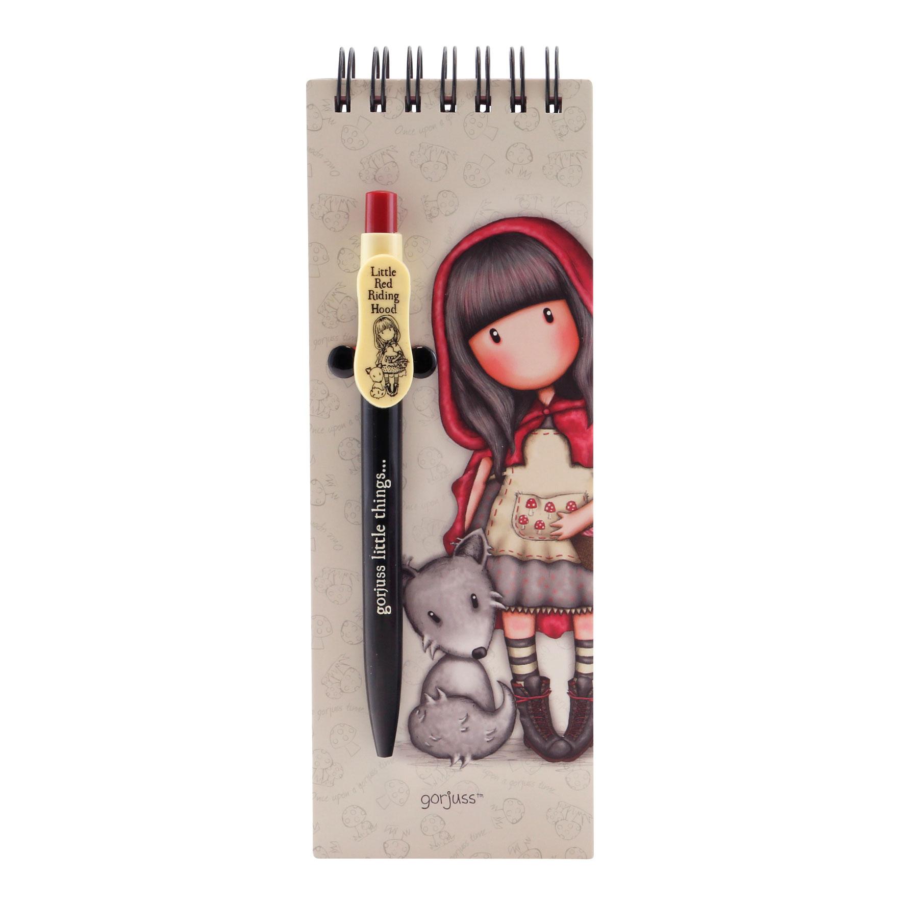 Gorjuss Little Red Riding Hood Jotter with Pen