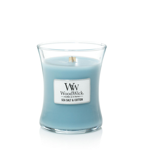 WoodWick Sea Salt & Cotton Medium Jar Candle