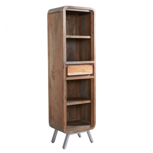Aspen Iron/Wooden - Narrow Bookcase