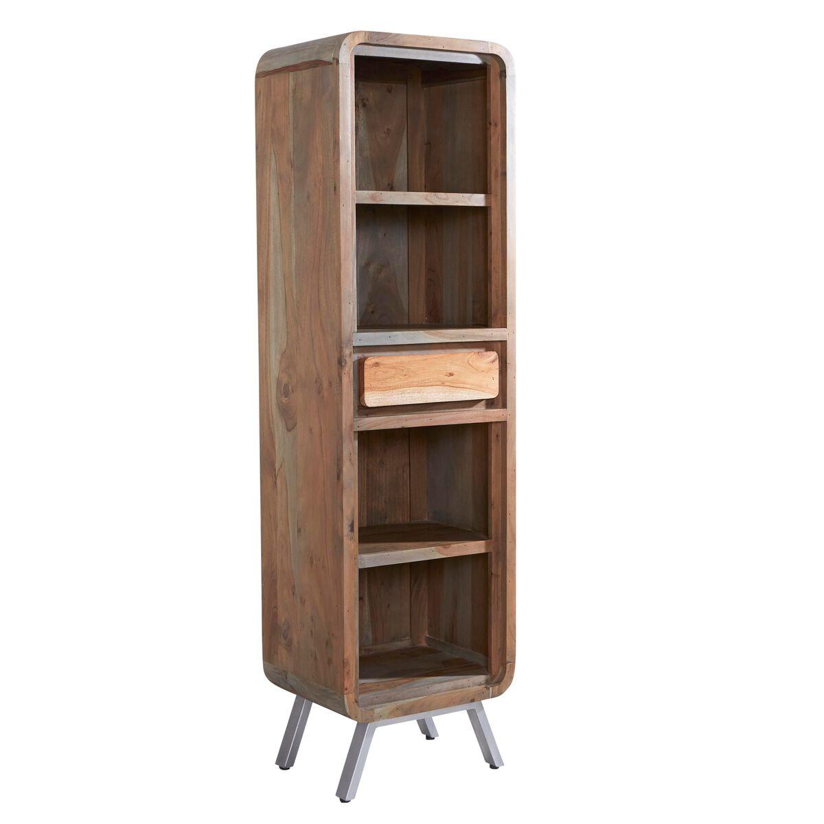 Aspen Iron/Wooden - Narrow Bookcase