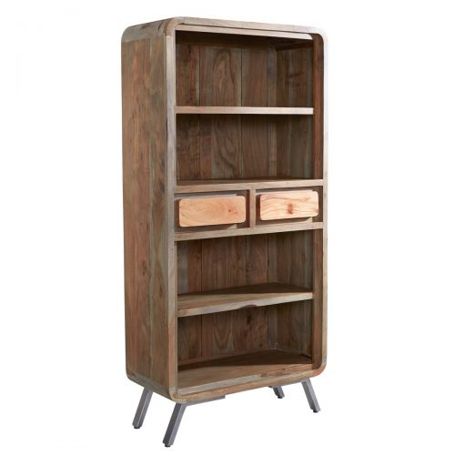 Aspen Iron/Wooden - Large Bookcase