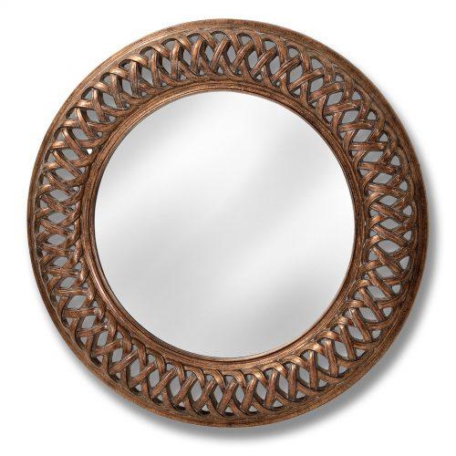 Antique Gold Lattice Wall Mirror