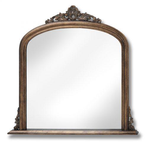 Antique Gold Over Mantel Mirror