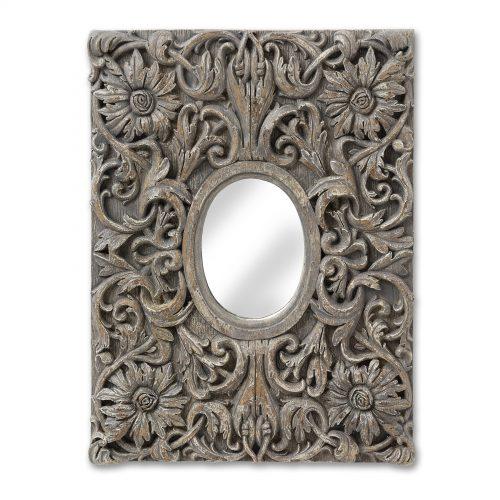 Antique Grey Decorative Wall Mirror