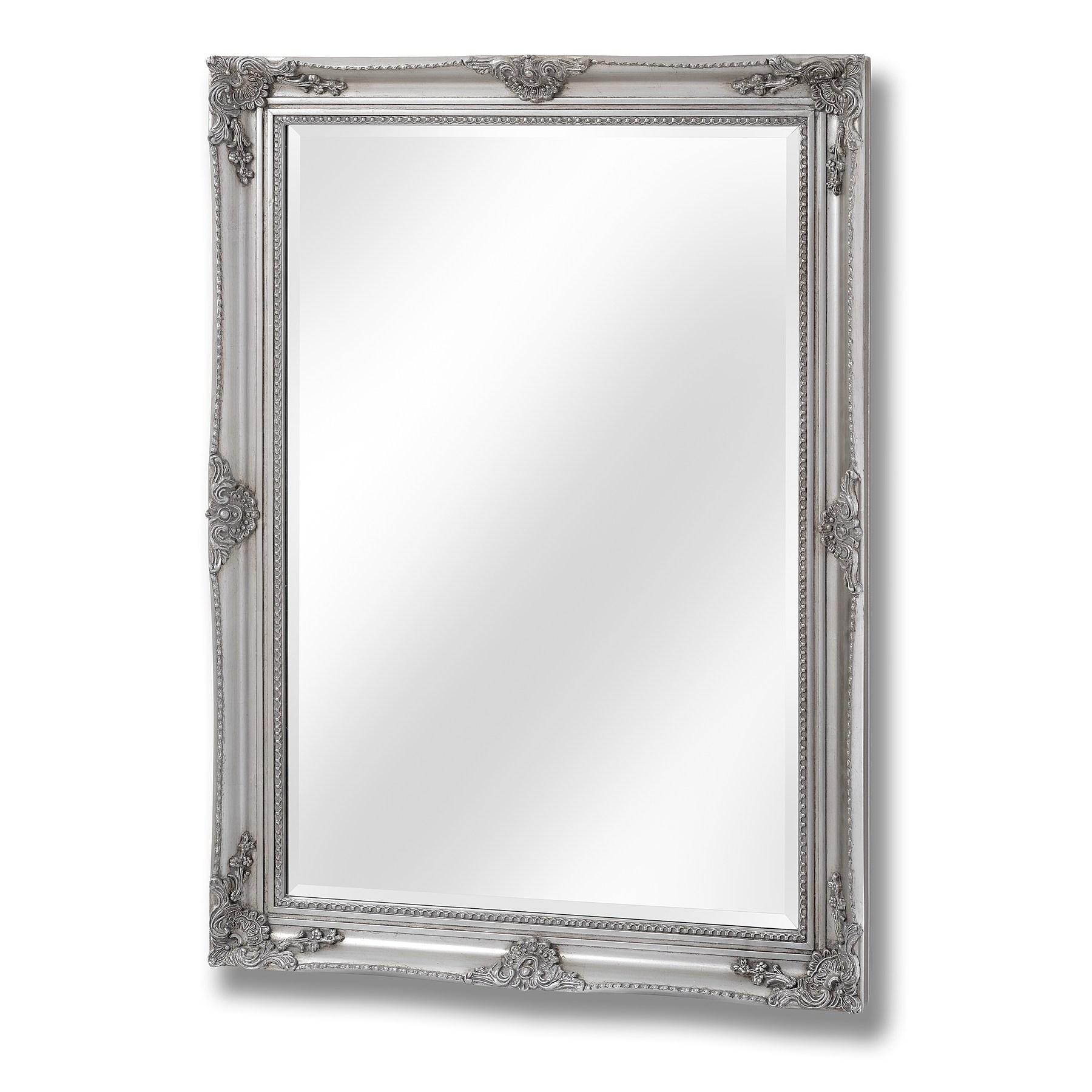 Antique Silver Baroque Style Mirror
