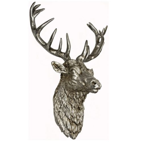 Antique Silver Stags Head