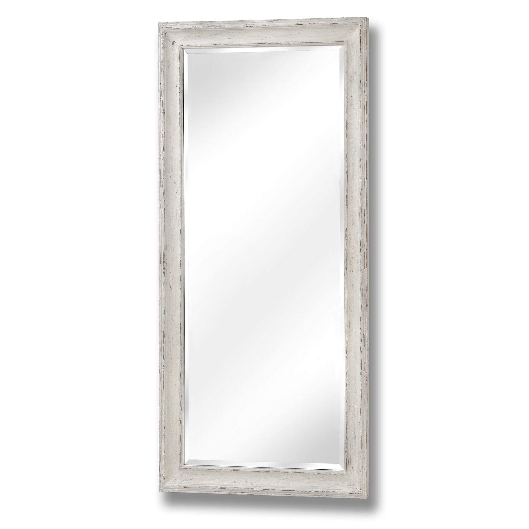 Antique White Large Frame Mirror