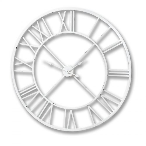 Antique White Roman Numeral Wall Clock