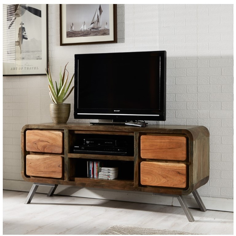 Aspen Iron Wooden - Greeno TV Media Unit