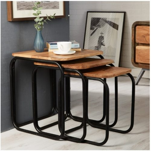 Aspen IronWooden - Pipe Set of 3 Stools