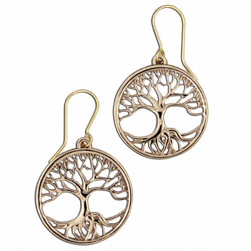 St Justin Bronze Tree of Life Earrings