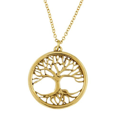 St Justin Bronze Tree of Life Pendant