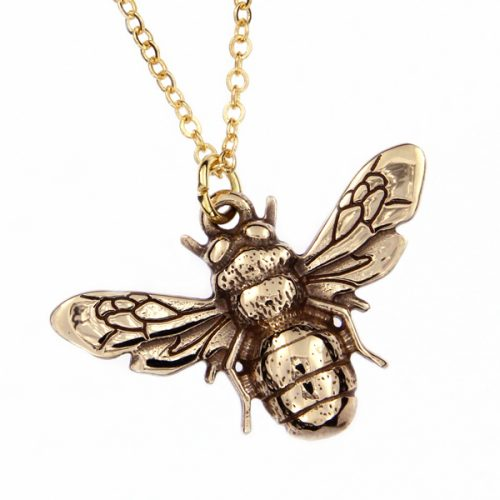 St Justin Bronze Bee Pendant