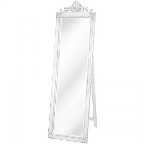 Baroque Antique White Full Length Mirror