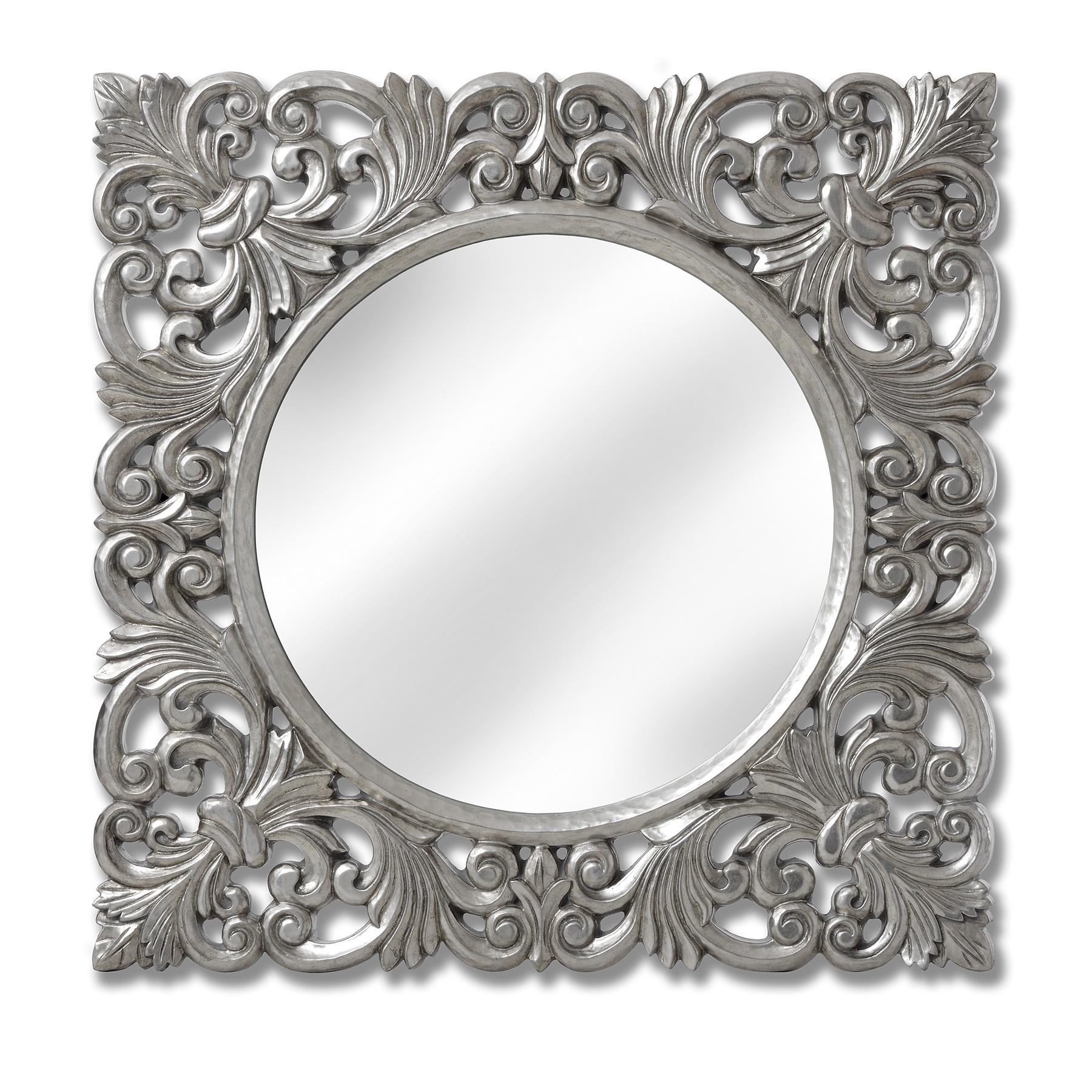 Baroque Silver Wall Mirror