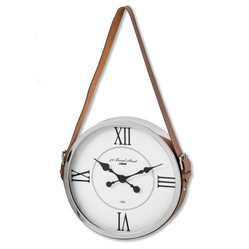 Bond Street London Wall Clock With Strap