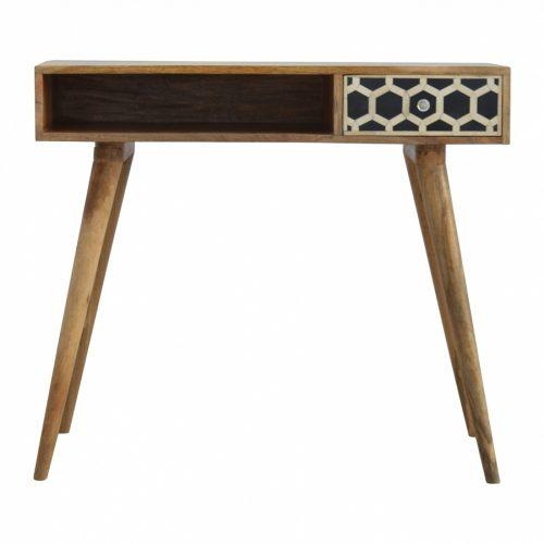 Bone Inlay 1 Drawer 1 Shelf Writing Desk