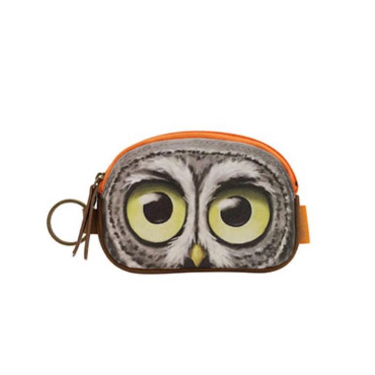 Book Owls Keyring Zip Purse