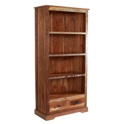 Coastal Reclaimed Wood Large Bookcase