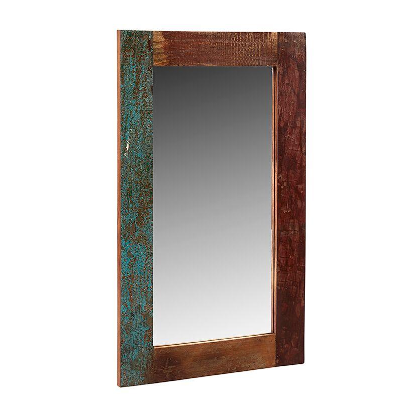 Coastal Reclaimed Wood Rectangular Mirror