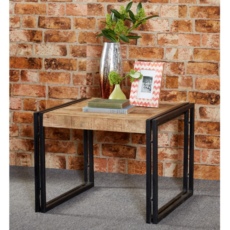 Cosmo Industrial Medium Coffee Table wood and Metal