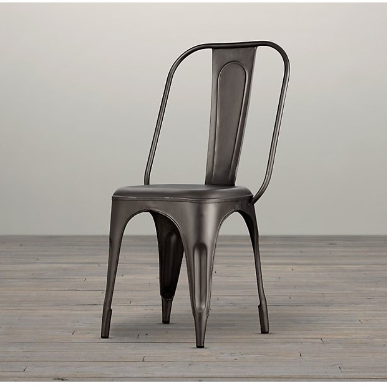 Cosmo Industrial Metal Chair Grey