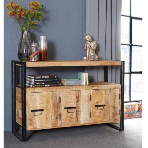 Cosmo Industrial Sideboard with 3 Doors