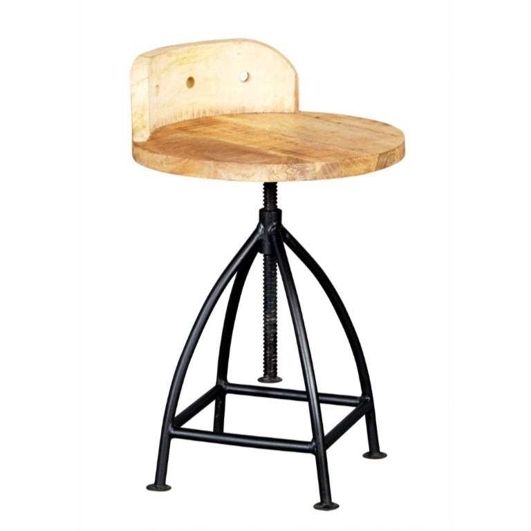 Cosmo Industrial Wooden Chair
