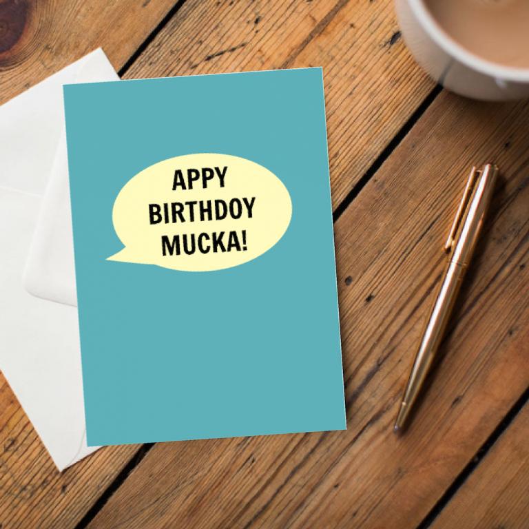 Appy Birthday mucka Greeting Card