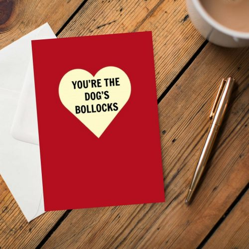 You're The Dogs Bollocks Greeting Card