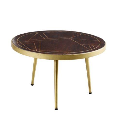 Dark Gold Round Coffee Table
