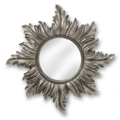 Decorative Antique Silver Star Mirror