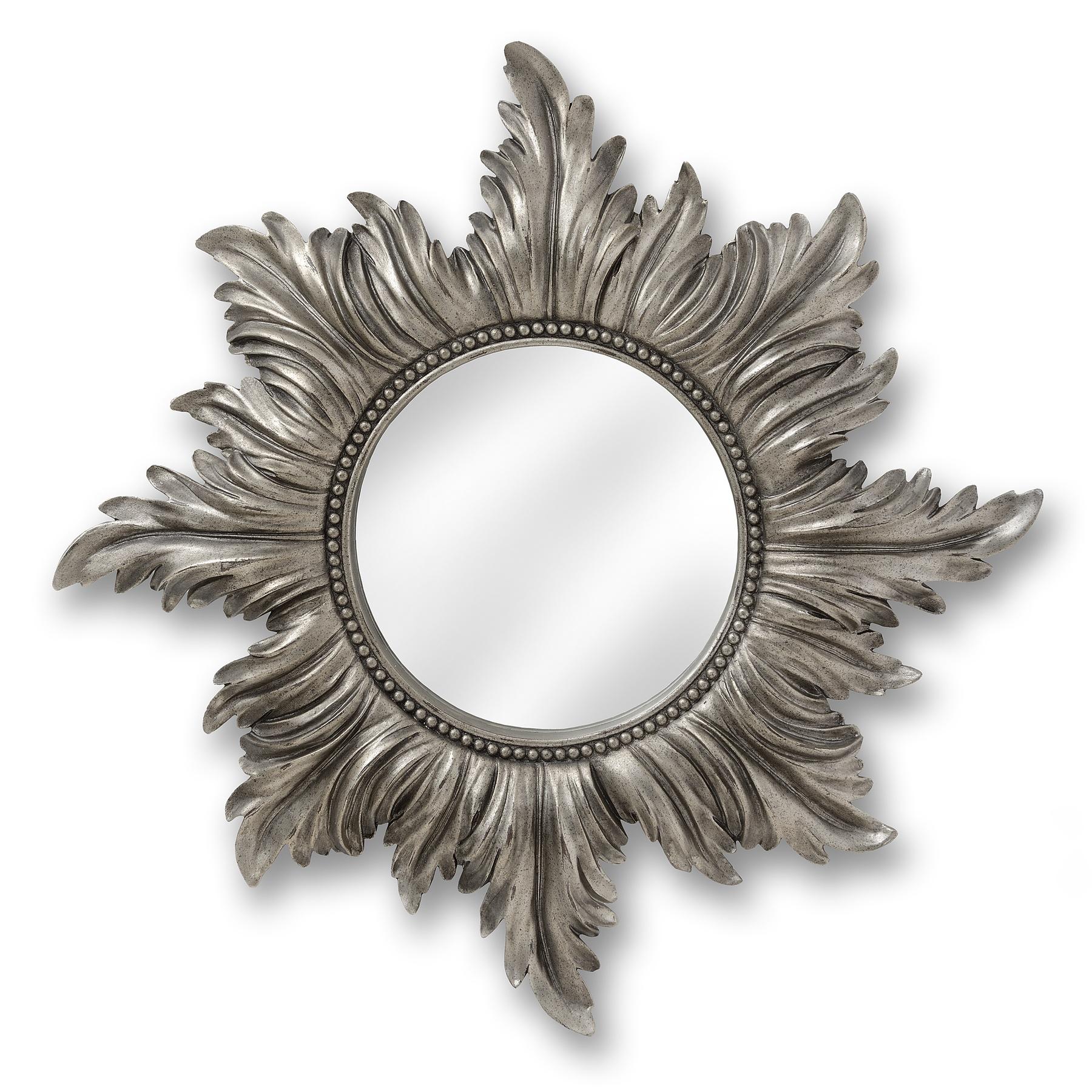 Decorative Antique Silver Star Mirror