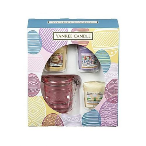 Easter 3 Votive & 1 Holder Gift Set