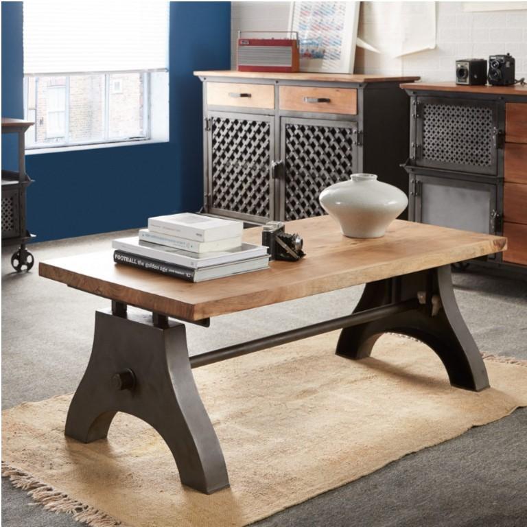 Evoke Iron / Wooden Industrial Coffee Table