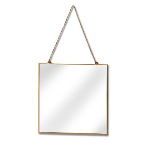 Gold Edged Square Hanging Wall Mirror