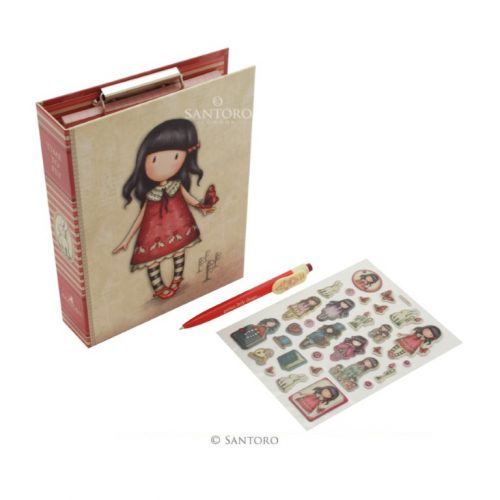 Gorjuss Clip Pad Stationery Set - Time to Fly