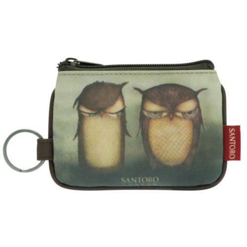 Grumpy Owl Zip Purse