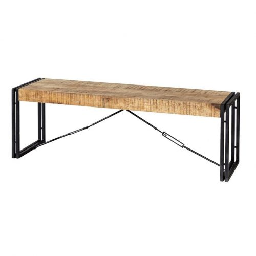 Cosmo Industrial Metal & Wood Bench